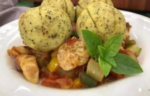 Picadinho de Legumes e Frango com Batata-doce