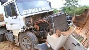 acidente entre caminhonete e caminhão em Mirassol