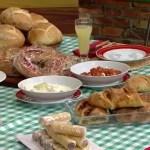 Pão Italiano Recheado com Queijo e Azeitona
