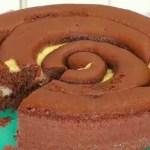 Bolo Espiral deChocolate com Creme