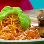 Espaguete com Costelinha de Porco