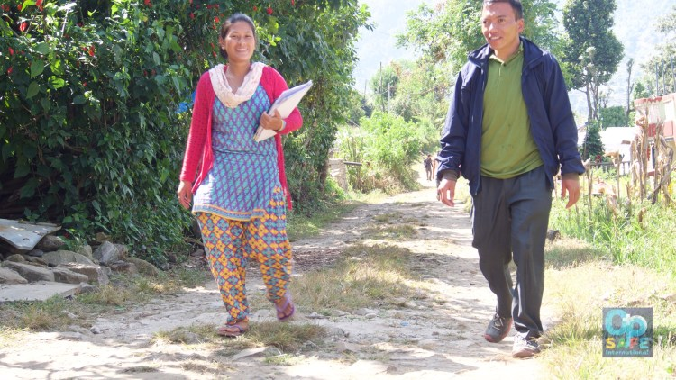 Volunteers walked for two to three hours from their villages higher in the mountains.
