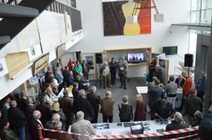 Veel volk op de opening van de tentoonstelling 'Van plaat tot schip'