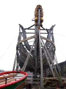 Reconstructie De Delft met indrukwekkend Boegbeeld