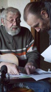 José met Marc Hauman tijdens een interview met hem over leven en werk