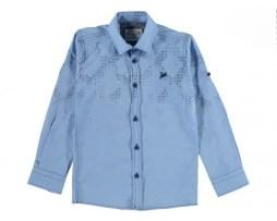 Рубашки с длинным рукавом на мальчика 1-16 лет