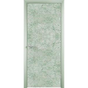 Дверь облицованная пластиком CPL (глухая, зеленый камень)