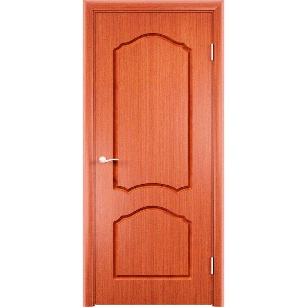 Шпонированная дверь Каролина (глухая, вишня)