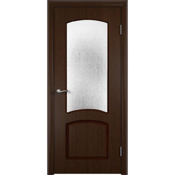Шпонированная дверь Наполеон (со стеклом, венге)