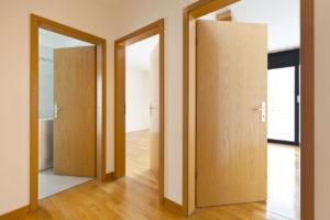 Гладкие шпонированные двери (fine-line)