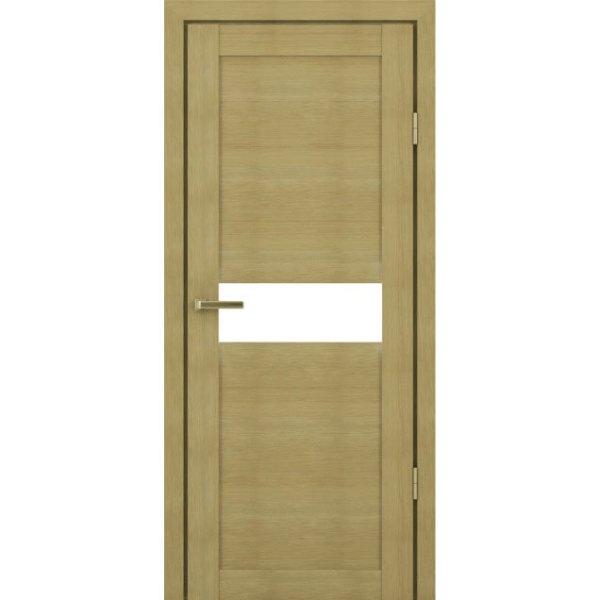 Межкомнатная царговая дверь К-01 (со стеклом, грей)