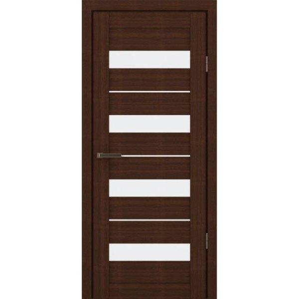 Межкомнатная царговая дверь М-3С (со стеклом, орех вела)
