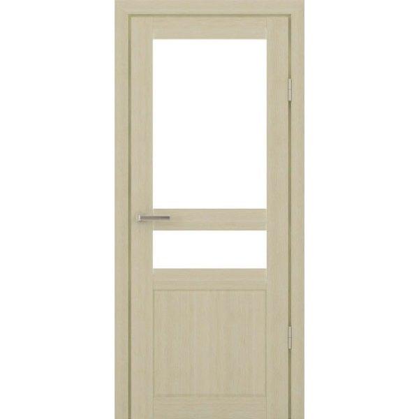 Межкомнатная царговая дверь С-800 (со стеклом, кремовая лиственница)