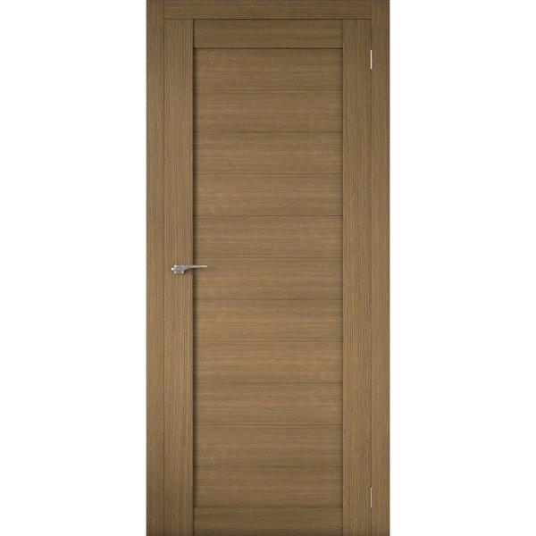 Межкомнатная царговая дверь Р-01 (глухая, орех вела)