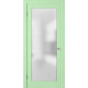 Крашеная дверь Евро (со стеклом, RAL 6019)