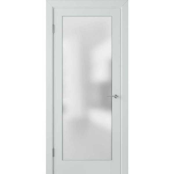 Крашеная дверь Евро (со стеклом, RAL 7035)
