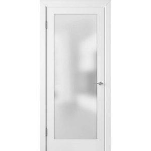 Крашеная дверь Евро (со стеклом, RAL 9003)