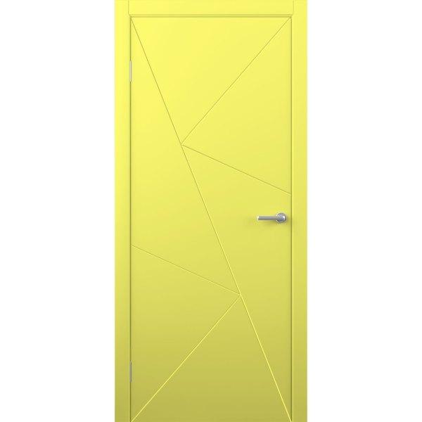 Крашеная дверь Графика (глухая, RAL 1016)