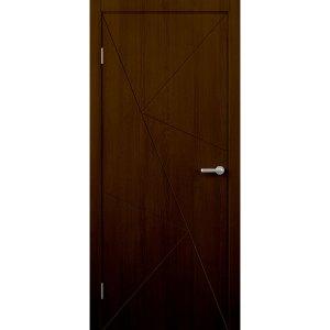 Шпонированная дверь Графика (ДГ, венге)