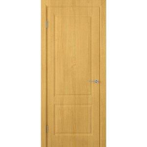 Шпонированная дверь Евро 2 (ДГ, дуб)