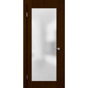 Шпонированная дверь Евро (ДО, венге)
