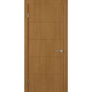 Шпонированная дверь Кварта (ДГ, орех)