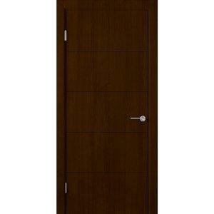 Шпонированная дверь Кварта (ДГ, венге)