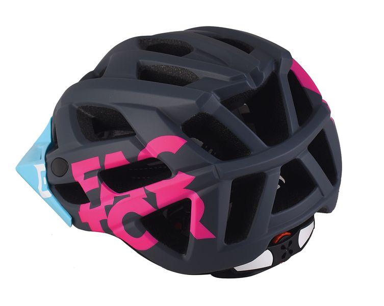 - Enduro MTB čelada Extend Factor (siva - modra - roza) - OPTIBIKE