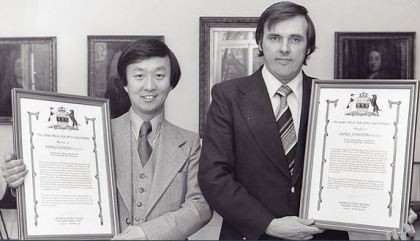 George Hockham & Charles Kao at Rank Prize event