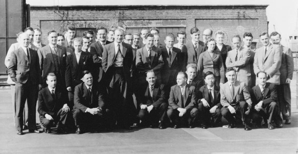 STC Woolwich staff including a young Charles Kao