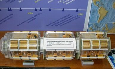Undersea Regenerator unit, from 280Mb/s UK-Belgium system 1986