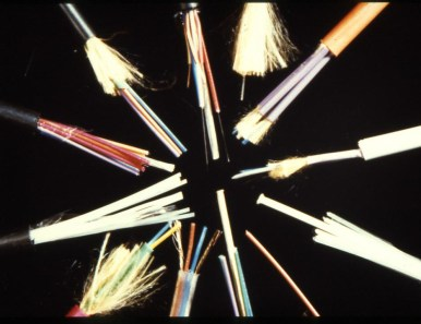 12 different optical fibre cables