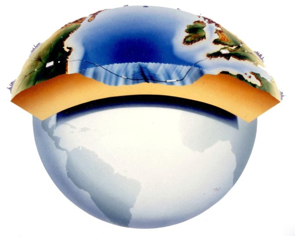 Globe showing undersea repeaters