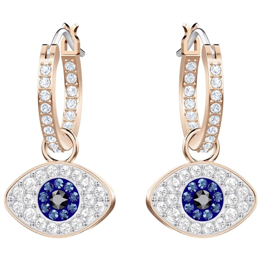 swarovski eye earrings