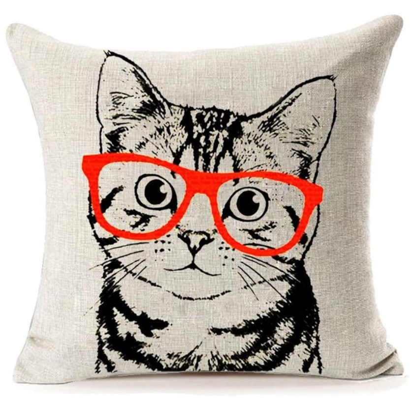 cat glasses pilow