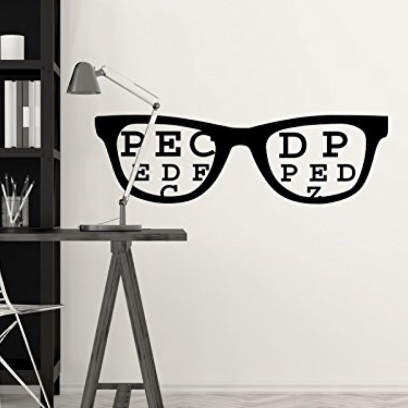 glasses wall decal