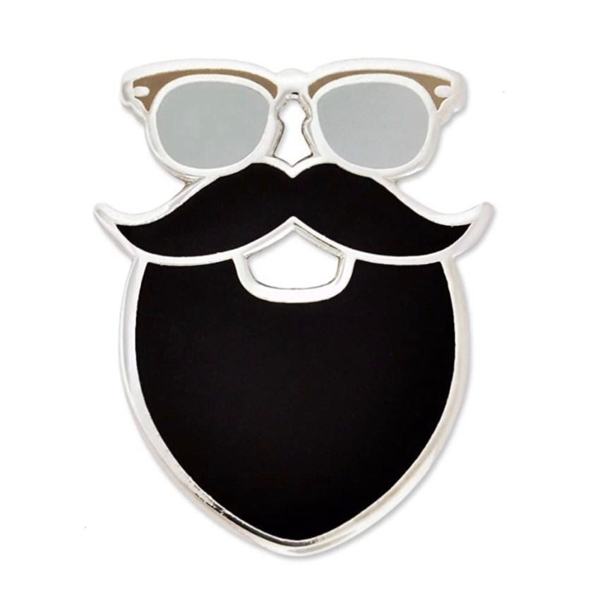 glasses beard pin
