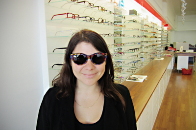 060489cfa49 ... we randomly selected one entry and would like to congratulate Rachel  for being the lucky winner! Here she is sporting her cool new vintage  sunglasses!