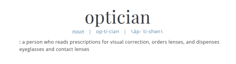 Optician definition
