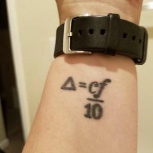 Prism formula tattoo