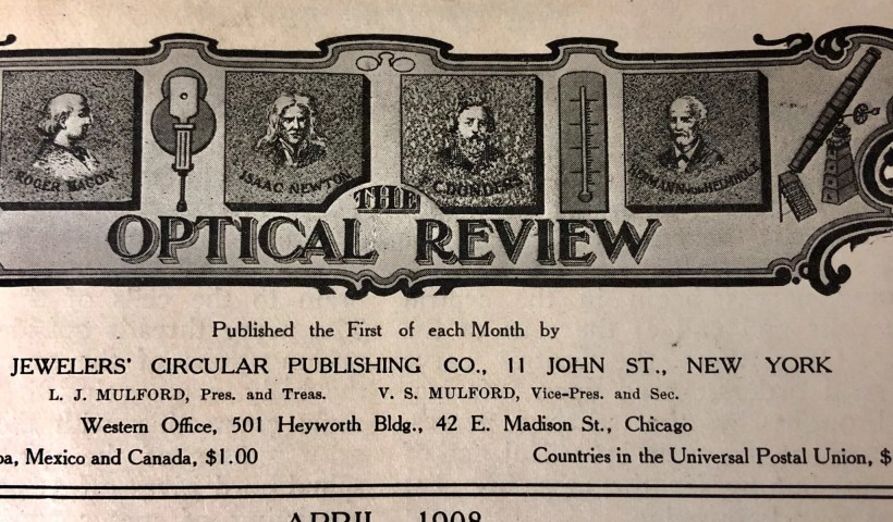 Optometry Review, 1908