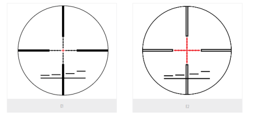 3e Keskin 3–12x50 available reticles