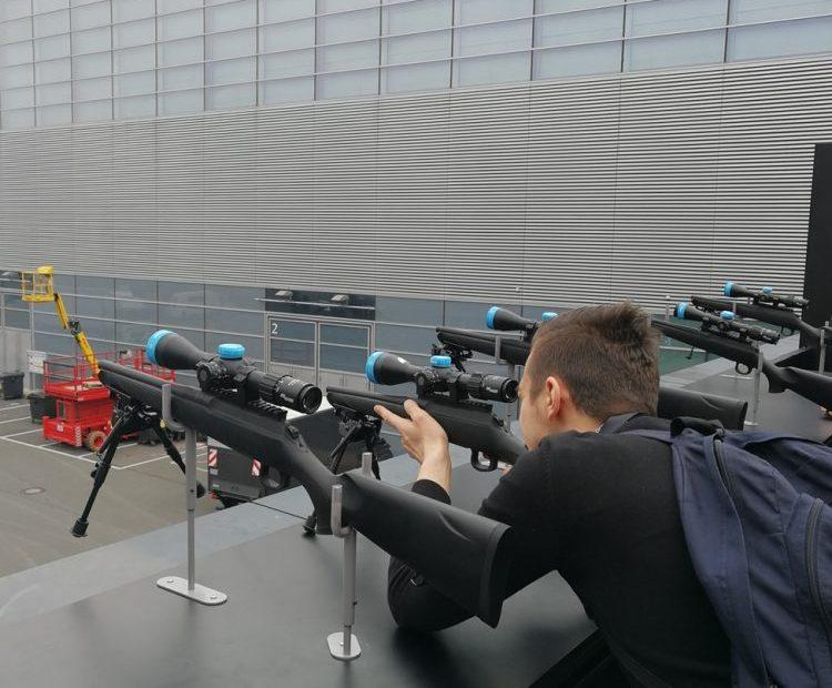 Testing the Sig Sauer BDX technology at IWA 2019