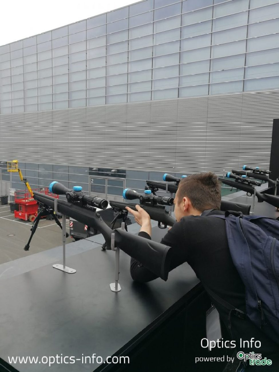 Testing the Sig Sauer BDX technology at IWA 2019