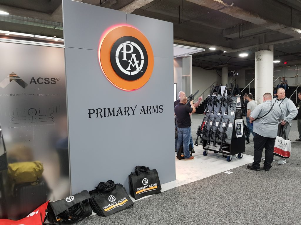 Primary Arms's booth at Shot Show 2019