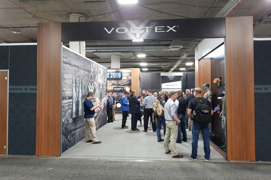 Vortex's booth at Shot Show 2019