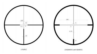 Reticle subtensions