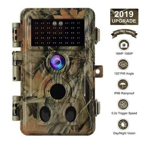 Blazevideo Trail Camera 16MP 1080P No Glow Night Vision Motion Activated