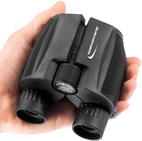 Aurosports 10x25 Folding High Powered Compact Binoculars