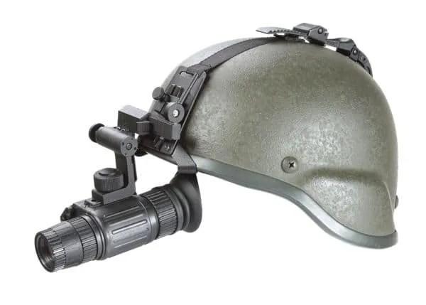 NYX-14 on helmet